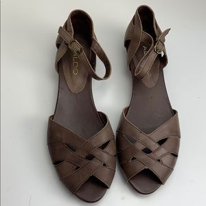 Aldo Brown sandals size 39
